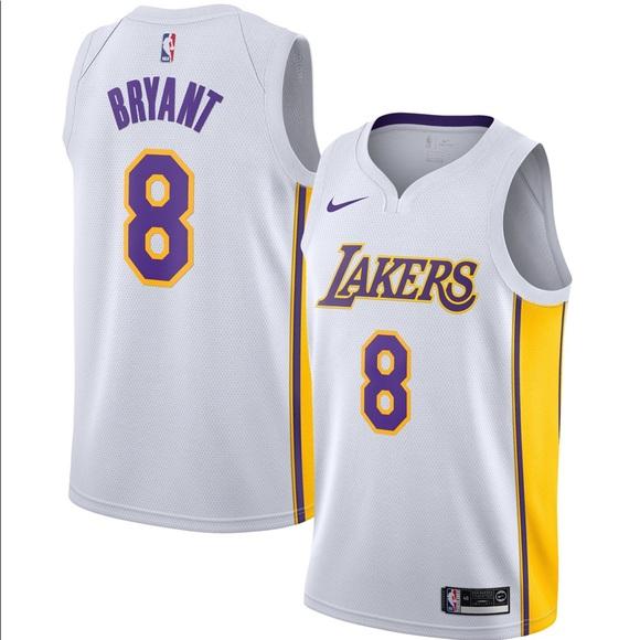 Lakers Kobe Bryant Swingman Jersey white 4xl